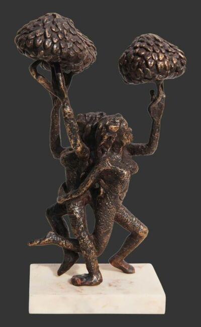 "Seema Kohli, 'Man & Trees, Bronze Sculpture, Brown by Indian Artist Seema Kohli ""In Stock""', 2018"