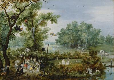 Adriaen Pietersz van de Venne, 'Merry Company in an Arbor', 1615