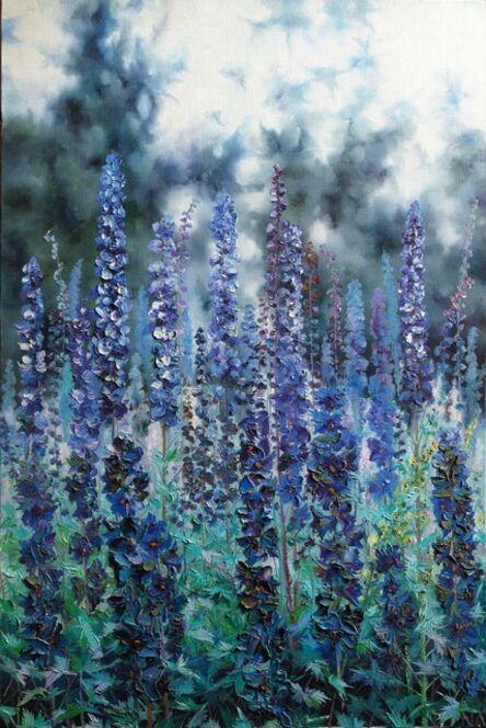 Zhang Shengzan 张胜赞, 'Blue symphony', 2000