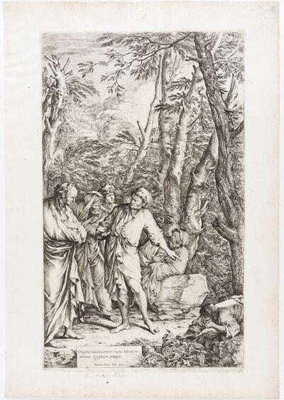 Salvator Rosa, 'Diogenes casting away his bowl', 1661-1662