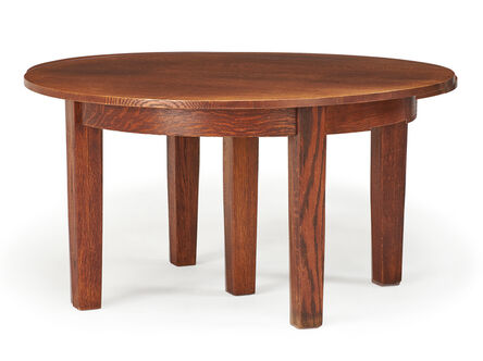Attributed to the Stickley Brothers, 'Dining room table'