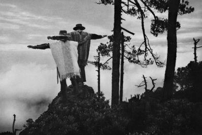 Sebastião Salgado, 'Thanksgiving prayer to the Mixe god Kioga in gratitude for a good harvest. Mexico.', 1980