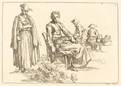François Boucher after Abraham Bloemaert, 'Figures in a Landscape', published 1735