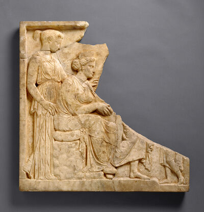 'Votive Relief to Demeter and Kore', 425 -400 BCE