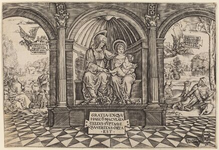 Master NA.DAT with the Mousetrap, 'Virgin and Child Enthroned with Saint Anne', ca. 1512/1513