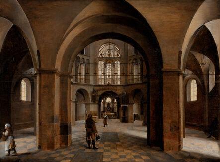 Hendrick van Steenwyck the Elder, 'Interior of Aachen Cathedral', 1575