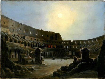 Ippolito Caffi, 'Inner Colosseum in the moonlight', 1860