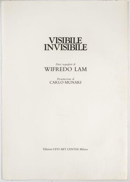 Wifredo Lam, 'Visibile/Invisibile', 1972