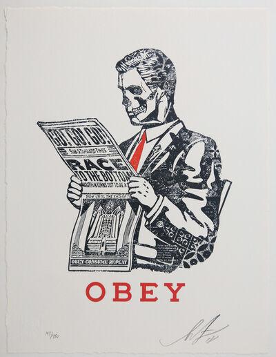 "Shepard Fairey, '""Race To The Bottom""', 2018"