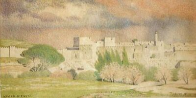 Shmuel Charuvi, 'The Old City of Jerusalem', Early 20's of the 20th century