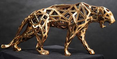 Richard Orlinski, 'Wild panther dentelle bronze doré', 2020