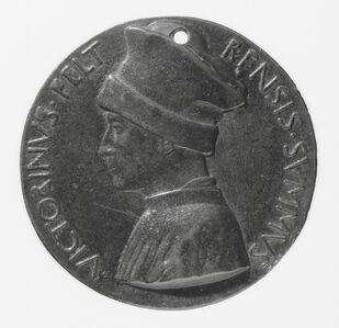 Pisanello, 'Vittorino de' Rambaldoni da Feltre, 1379-1446, Humanist [obverse]', ca. 1446