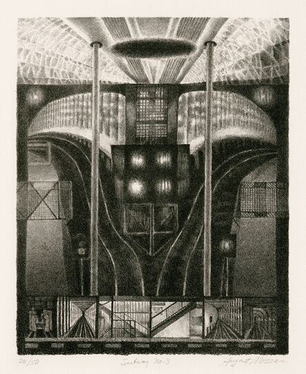 August Mosca, 'Subway No. 3', ca. 1946-56