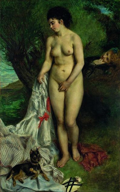 Pierre-Auguste Renoir, 'Bather with a Griffon', 1870