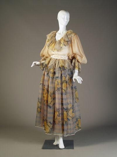 Oscar de la Renta, 'Evening ensemble; blouse and skirt.', 1983