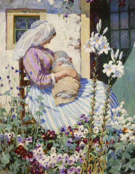 George Hitchcock, 'The White Lilies', ca. 1895