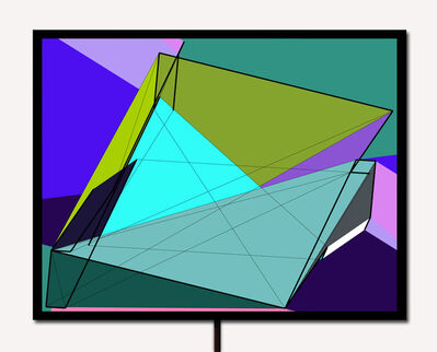 Manfred Mohr, 'P-777_B', 2002