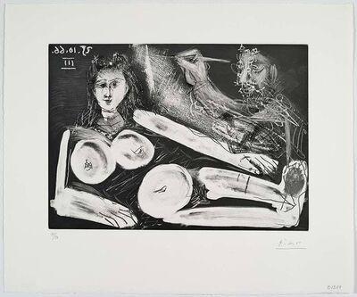 Pablo Picasso, 'Peintre et son modèle au collier', 1966