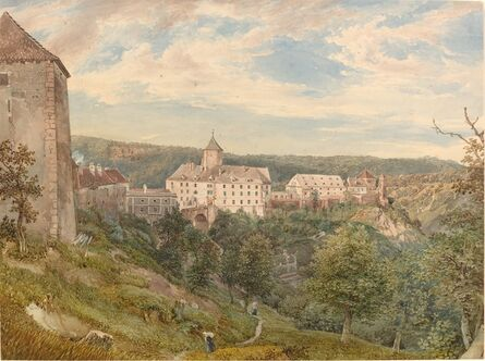 Josef Höger, 'Eichhorn Castle at Evening', ca. 1838