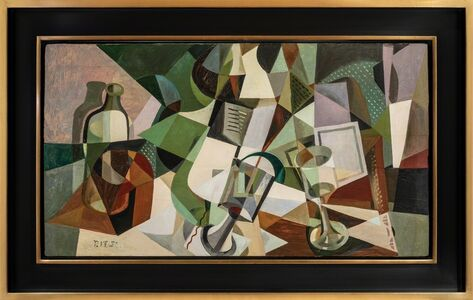 Paul Kelpe, 'Still Life with Bottles, Glass and Grater', ca. 1922