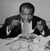 Slim Aarons, 'Dinner Jazz, Rome, Louis Armstrong', 1949