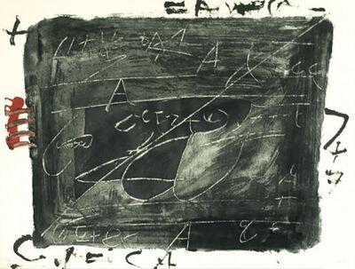 Antoni Tàpies, 'Esgriafats Damunt Negre 2', 1976