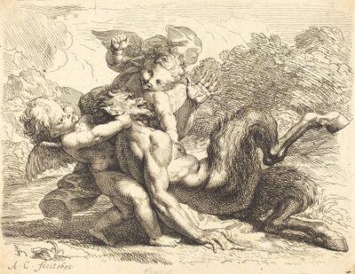 Antoine Coypel, 'Pan Overcome by Putti', 1692