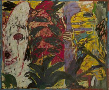 Gaylen Hansen, 'Yellow Grasshopper and White Doghead', 2019