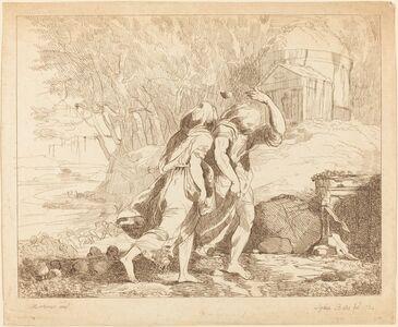 Lydia Bates, 'Two Fleeing Figures (Atlanta and Hippomenes?)', 1784
