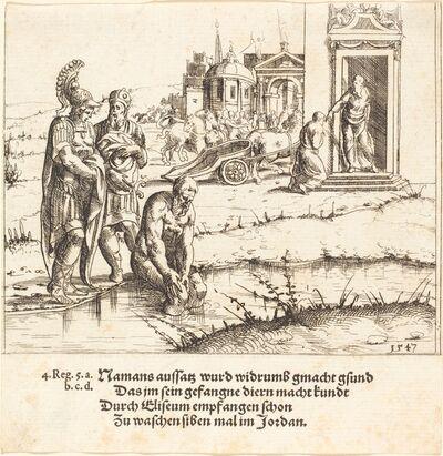 Augustin Hirschvogel, 'Naaman is Cured of Leprosy', 1547