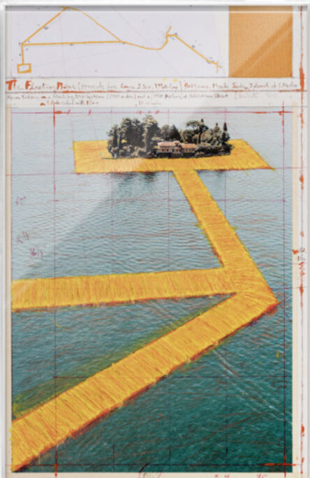 Christo, ' The Floating Piers (Project for Lake Iseo, Italy) San Paolo', 2017