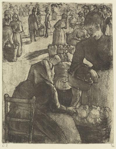 Camille Pissarro, 'Vegetable Market at Pontoise (Marche aux legumes a Pontoise)', 1891