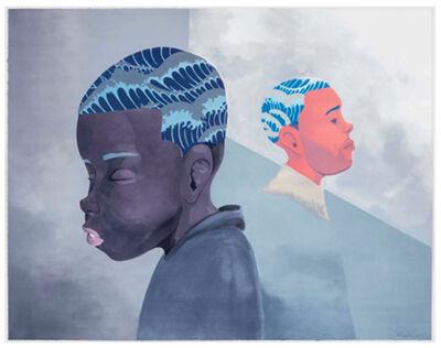 Hebru Brantley, ''Two Men Sporting Waves' (framed)', 2019