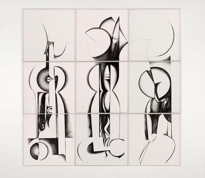 Ibrahim El-Salahi, 'Calligraphic Forms III', 1989
