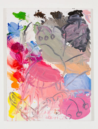 Ann Craven, 'Untitled (Pink Canary, on Blue, on Pink), 2017', 2017