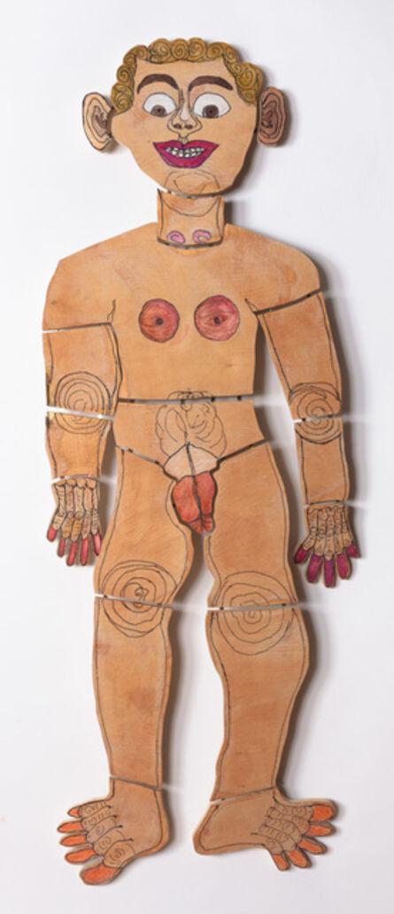 Camille Holvoet, 'Naked Man Wide Eyes Open Standing on Stilts, 2017', 2017