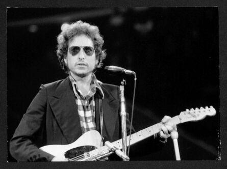 Bob Gruen, 'Bob Dylan - With Check Shirt/Sunglasses The Omni in Atlanta, GA', ca. 1973