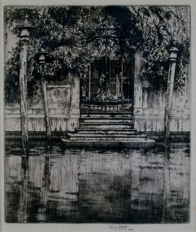 Ernest David Roth, ' Canal Entrance, Venice', 1906