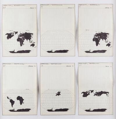 Horacio Zabala, 'Apariciones/ desapariciones (a,b,c,d,e,f)', 1972
