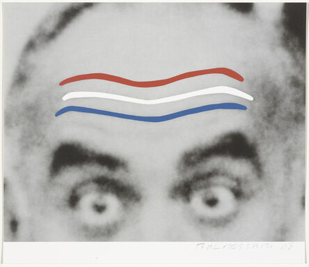 John Baldessari, 'Raised Eyebrows/Furrowed Foreheads (Red, White, and Blue) from Artists for Obama', 2008