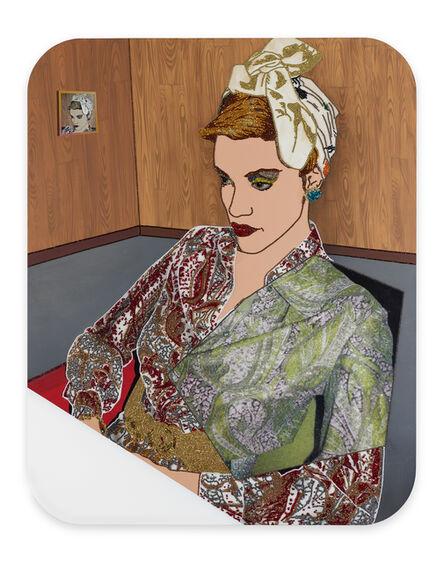 Mickalene Thomas, 'Portrait of Vanessa #2', 2017