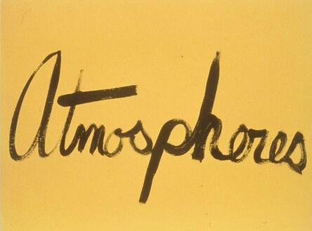 Ree Morton, 'Atmospheres (Signs of love)', 1976