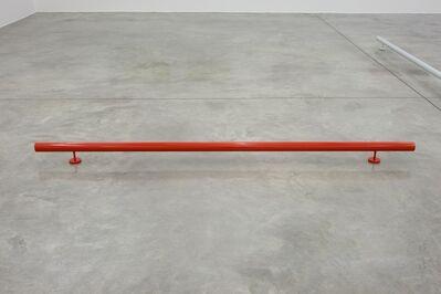 Liam Gillick, 'Singular Roundrail (Red)', 2012