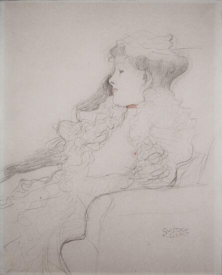 Gustav Klimt, 'Seated Girl Facing Left [Fünfundzwanzig Handzeichnungen]', 1919