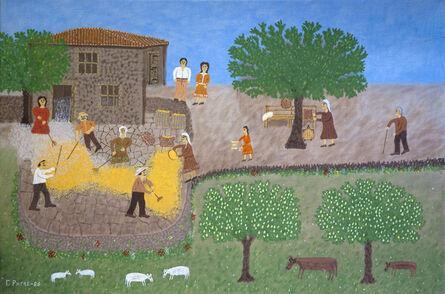 Giorgos Rigas, 'Corn Winnowing', 1986