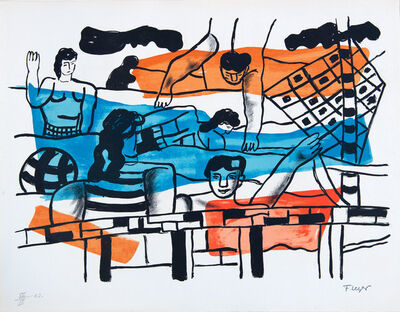 Fernand Léger, 'La Piscine', 1959