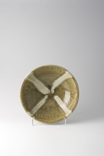 Shōji Hamada, 'Bowl, ash glaze with trailed decoration', 1957