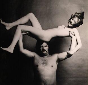 Guy Bourdin, 'Nude & Strongman in Joy', ca. 1972