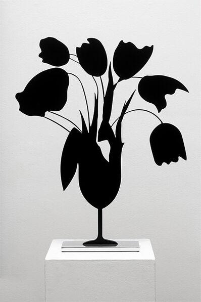 Donald Sultan, 'Black Tulips & Vase', 2014