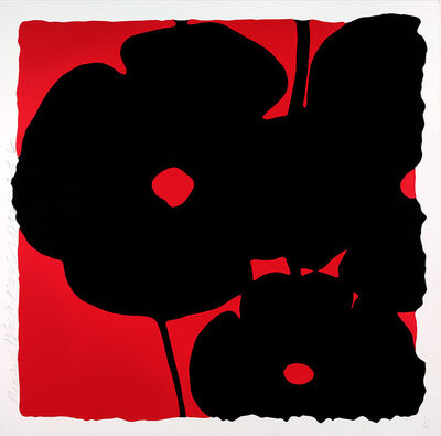 Donald Sultan, 'Reversal Poppies, Red and Black', 2015
